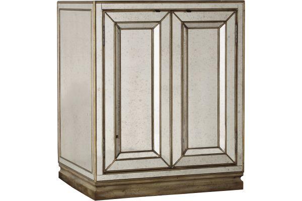 Large image of Hooker Furniture Bedroom Sanctuary Two-Door Mirrored Nightstand - 3014-90015