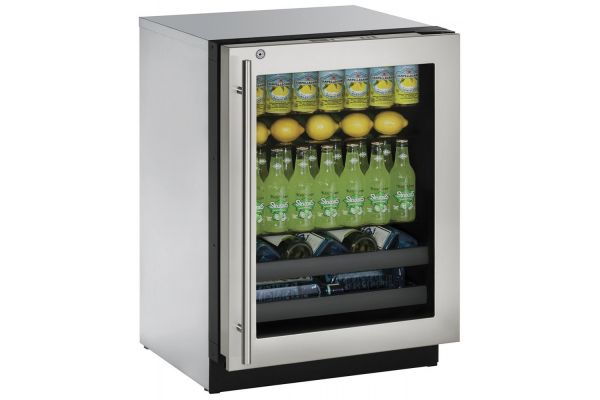 "U-Line Stainless Steel Modular 3000 Series 24"" Beverage Center - U-3024BEVS-13B"