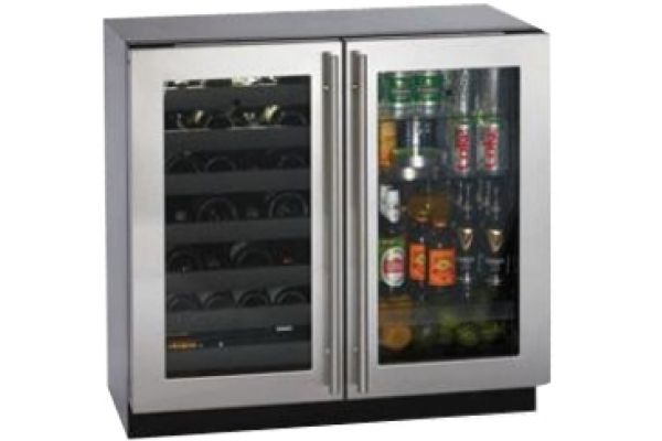 U-Line 3000 Series Stainless Steel Beverage Center - 3036BVWCS