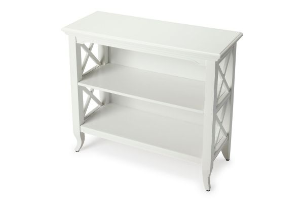 Large image of Butler Specialty Company Newport Glossy White Bookcase - 3044304