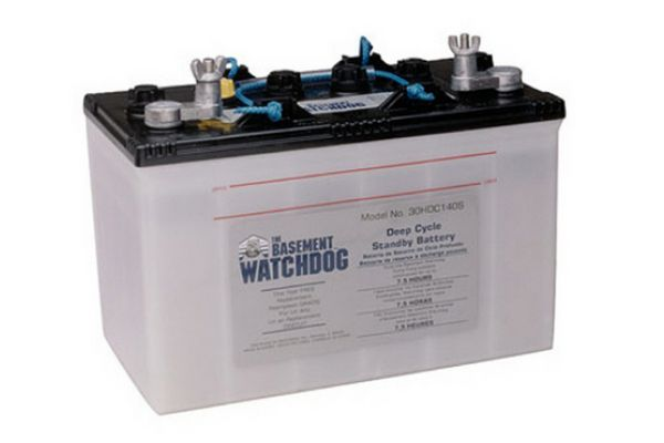 Large image of Basement Watchdog 7.5 Hour Sump Pump Standby Battery - 30HDC140S