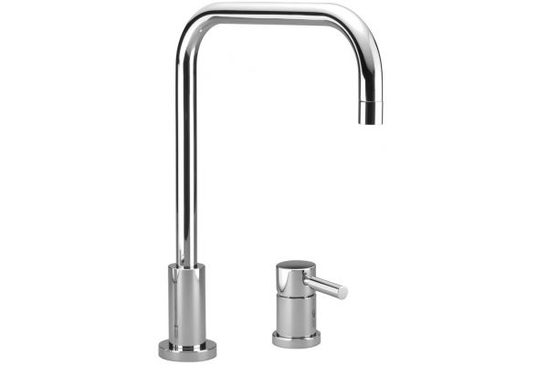 Large image of Dornbracht Meta.02 Chrome Two-Hole Kitchen Faucet  - 32815625-000010