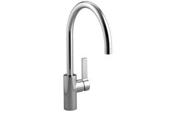 Large image of Dornbracht Tara Ultra Chrome Single-Lever Kitchen Faucet  - 33816875-000010