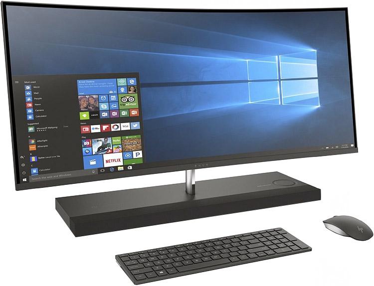 Hp Envy Ash Silver Curved Desktop Computer 34 B010