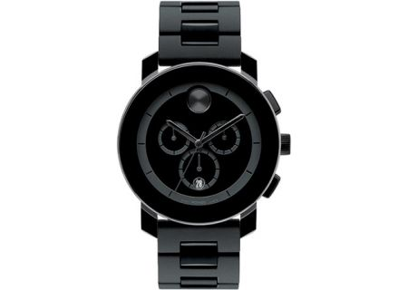 Movado Bold Large Black Unisex Chronograph Watch - 3600048