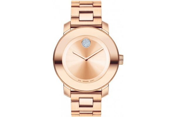Large image of Movado Bold Metals Rose Gold Ion-Plated Stainless Steel Watch, 36mm - 3600086