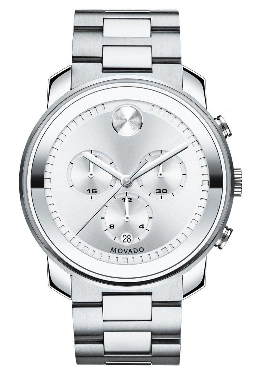 Movado Bold Large Quartz Chronograph Mens Watch 3600276