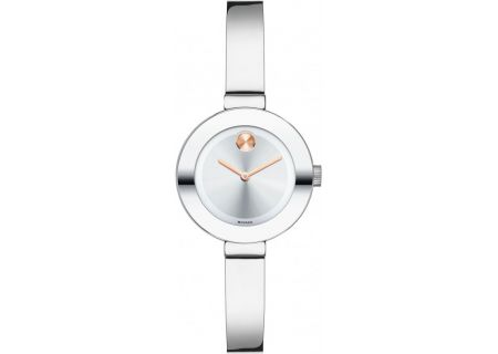 Movado Bold Stainless Steel Rose Gold Ladies Watch - 3600284