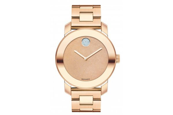 Movado Bold Rose Gold Womens Watch - 3600335