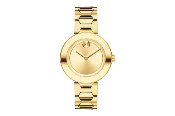 Movado Midsize Bold Yellow Gold Womens Watch - 3600382