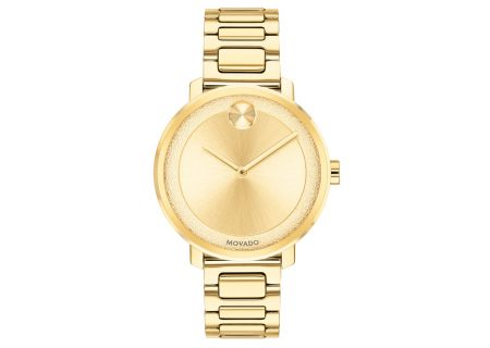 Movado Bold Mid-Size Pale Gold Ion-Plated Womens Watch - 3600502