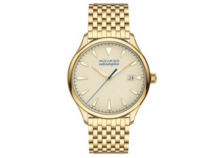 Movado Heritage Series Calendoplan 40mm Gold Mens Watch  - 3650013