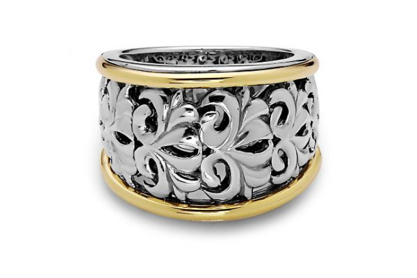 Charles Krypell Ivy Two-Tone Sterling Silver And Gold  Ring  - 3-6637-SG