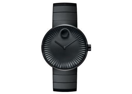 Movado Edge Black Aluminum Dial Swiss Quartz Mens Watch - 3680007