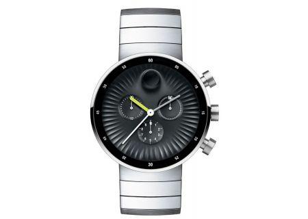 Movado Edge Black Aluminum Dial Swiss Quartz Chronograph Mens Watch - 3680009