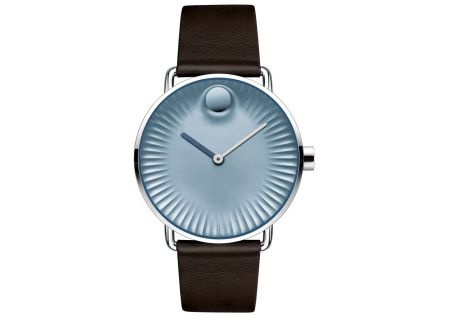Movado Edge 40mm Blue And Brown Leather Mens Watch  - 3680040