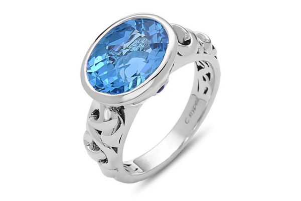Charles Krypell Dylani Sterling Silver And Blue Topaz Ring - 36898SBTBS