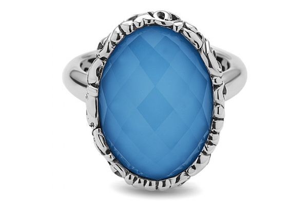 Large image of Charles Krypell Skye Sterling Silver And Turquoise Ring  - 36946TQ