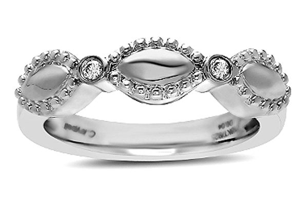Charles Krypell Firefly Sterling Silver White Diamond Single Band Ring - 36964FFSD