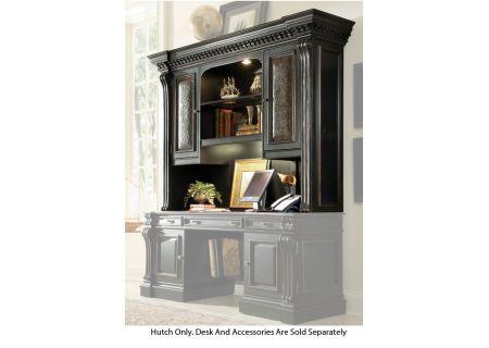 Hooker Furniture Black Home Office Telluride Computer Credenza Hutch - 370-10-467