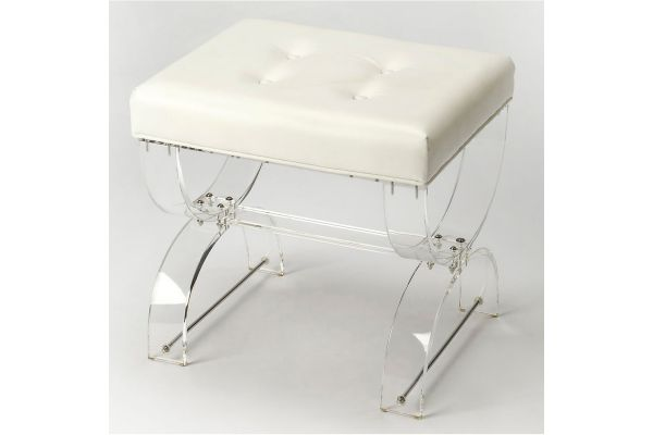 Large image of Butler Specialty Company Morena Acrylic Vanity Stool - 3739335