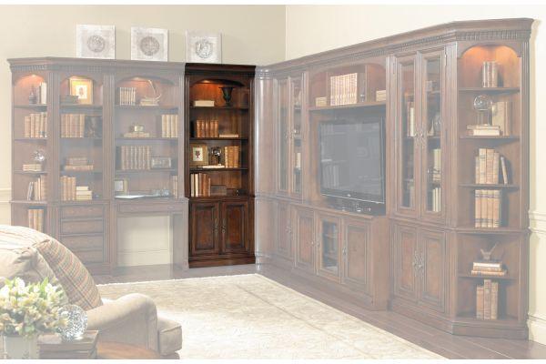 "Large image of Hooker Furniture Home Office European Renaissance II 32"" Door Bookcase - 374-10-446"