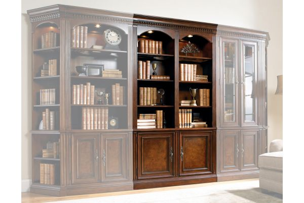 "Large image of Hooker Furniture Home Office European Renaissance II 48"" Wall Bookcase - 374-10-448"
