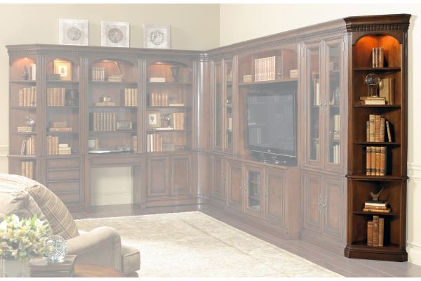 Large image of Hooker Furniture Home Office European Renaissance II Wall End Unit L/R - 374-10-450