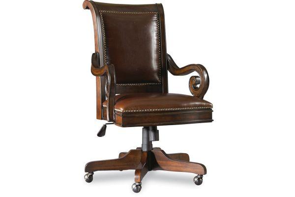 Large image of Hooker Furniture Home Office European Renaissance II Tilt Swivel Chair - 374-30-220