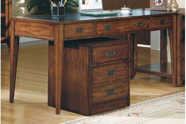 Large image of Hooker Furniture Home Office Danforth Executive Leg Desk - 388-10-458