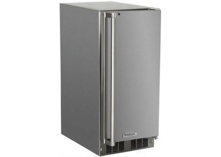 """Marvel 15"""" Stainless Steel Outdoor Ice Machine - 3OIMT-SS-F-R"""