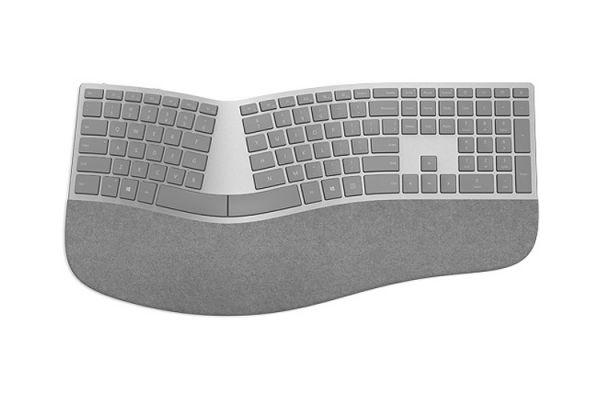 Large image of Microsoft Surface Silver Ergonomic Keyboard - 3RA-00022