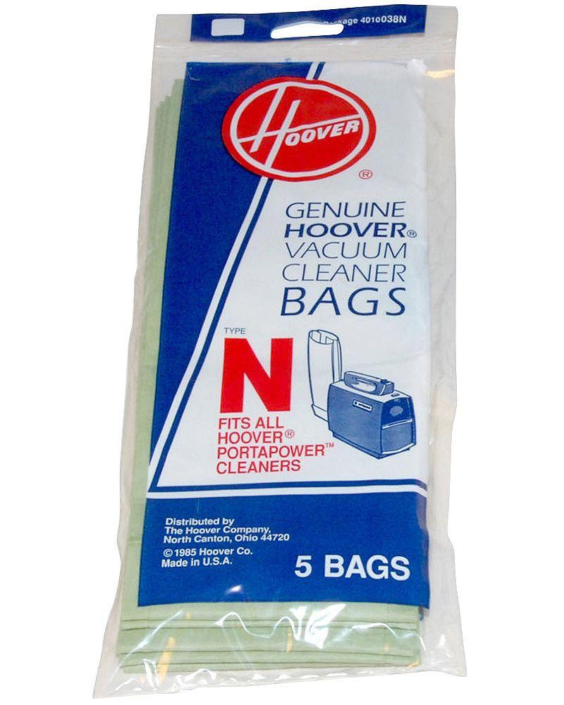 Hoover Type N 5 Pack Vacuum Bags 4010038n