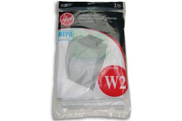 Hoover HEPA 2 Pack Filtration Bags - 401080W2