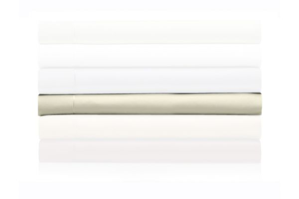 Large image of Tempur-Pedic Pima Cotton 310 Count Eggshell Queen Sheet Set - 40606150