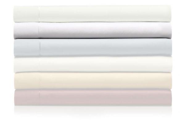 Large image of Tempur-Pedic Pima Cotton 310 Count White Split King Sheet Set - 40606475