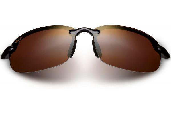 Large image of Maui Jim Semi-Rimless Hookipa HCL Bronze Unisex Sunglasses - H407-02