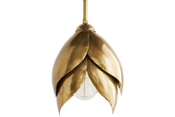 Large image of Arteriors Vintage Brass Edith Pendant - 42081