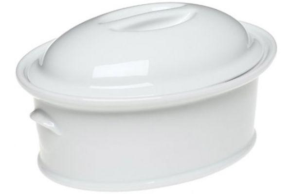Large image of Pillivuyt Classics Medium Oval Casserole With Lid - 430390