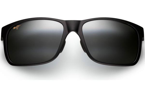 Maui Jim Red Sands Matte Black Rectangle Unisex Sunglasses - 432-2M