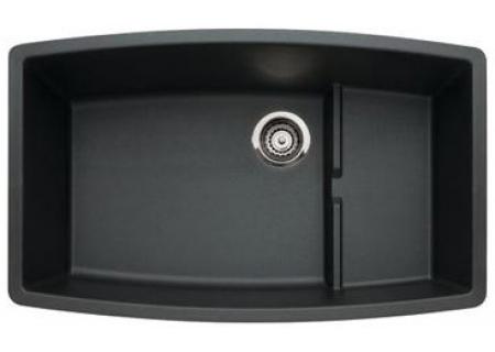 Blanco Black Silgranit BlancoPerforma Series Cascade Super Single Bowl Undermount Sink - 440064