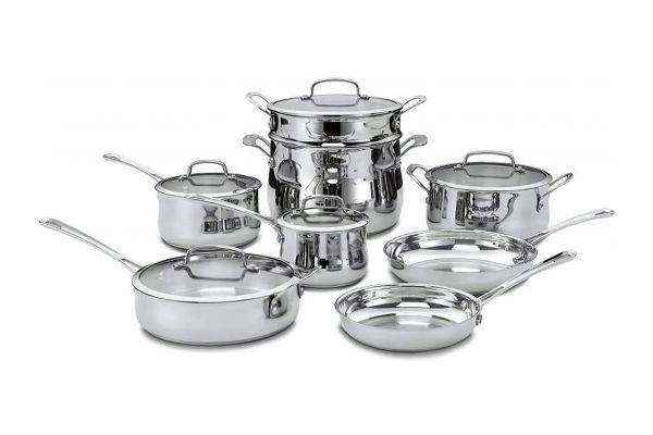 Cuisinart Contour Stainless Steel 13 Piece Cookware Set - 44-13