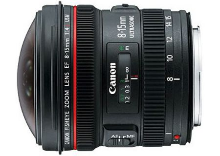 Canon EF 8-15mm f/4L Fisheye USM Ultra-Wide Zoom Camera Lens - 4427B002