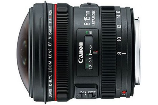 Large image of Canon EF 8-15mm f/4L Fisheye USM Ultra-Wide Zoom Camera Lens - 4427B002