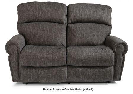 Flexsteel Langston Ash Fabric Power Reclining Loveseat With Power Headrests - 4504-60H-147-02