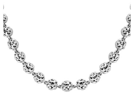 Charles Krypell Ivy Bead Sterling Silver Short Necklace  - 4-6823-S