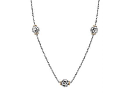 Charles Krypell Ivy Two-Tone Sterling Silver And Gold Necklace  - 4-6833-S