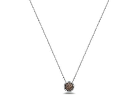 Charles Krypell Brown Diamond Pave Necklace - 46944SBRP
