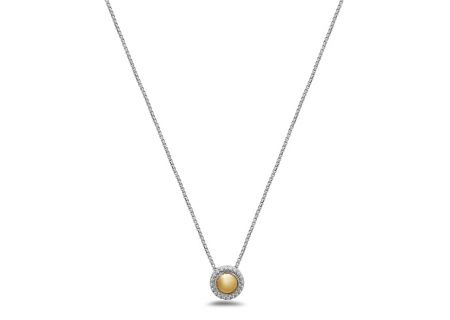Charles Krypell Firefly Two-Tone Sterling Silver And Gold Necklace  - 4-6970-FFSG