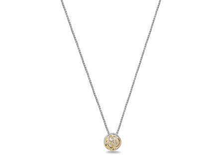 Charles Krypell Ivy Lace Two-Tone Sterling Silver And  Gold Necklace  - 4-6971-ILSG